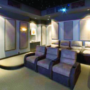 Home Theater Acoustical Wall Panels